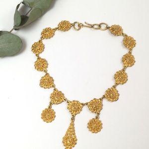 Vintage Retro WEST Germany Gold Choker Necklace